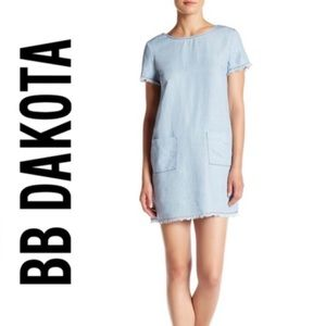 BB Dakota Chambray Rafe Dress in Light Blue